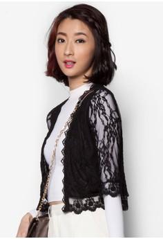 Elbow Length Lace Cardigan