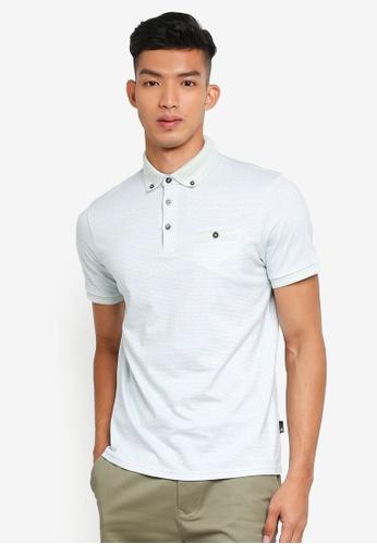 Burton Menswear London green Mint Polka Dot Polo Shirt C9099AAD6F2446GS_1