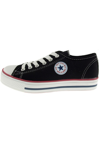 Maxstar 黑色 新款韩国鞋C1-6H時尚帆布布混合女黑色 US Women Size MA345SH70HCBTW_1