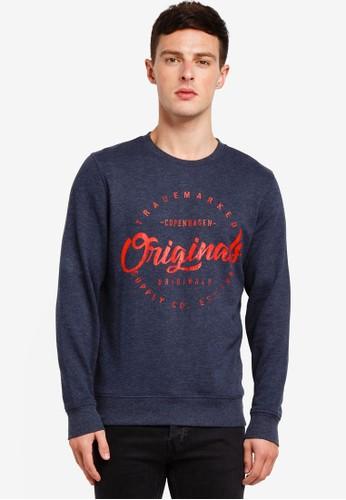 Jack & Jones navy Hango Sweatshirt 25BB3AA705D4D4GS_1