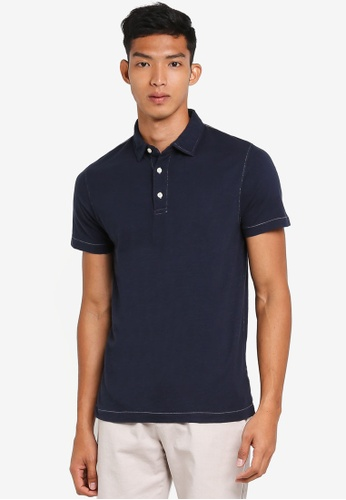 French Connection blue Multi Slub Shirt 1C141AA40735BEGS_1