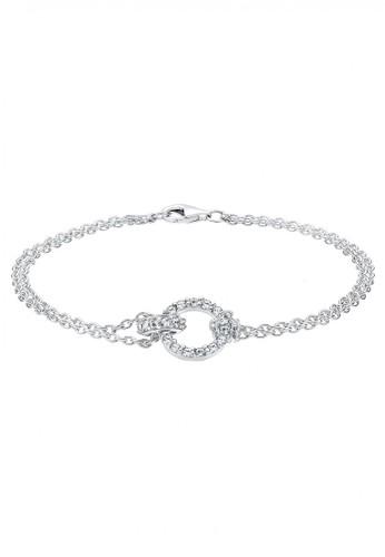 Elli Germany white 925 Sterling Silver Gelang Round Swarovski® Putih EL948AC15YYEID_1
