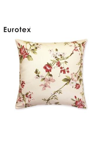 Eurotex Eurotex, Cushion Cover, Secret Garden, Applebury, 100% Cotton Fabric made in England - Coral 739BAHLF26ED92GS_1
