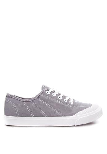Wade grey Lace up Sneakers WA436SH09LQSPH_1