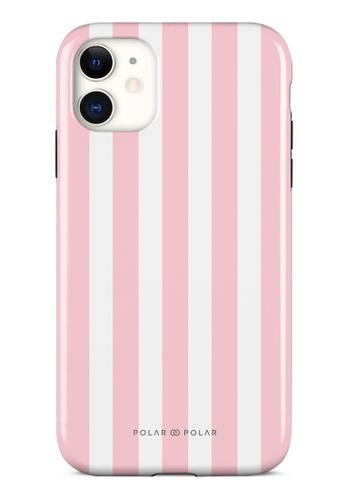 Polar Polar pink Baby Pink Stripe Dual-Layer Tough Case Glossy For iPhone 11 536BCAC1EF1725GS_1