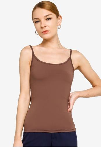 Gene Martino brown Inner Wear Camisole 72ED3AA37FEF9FGS_1