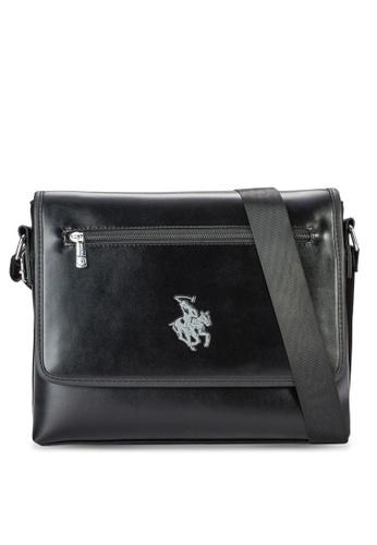 Swiss Polo black Swiss Polo Messenger Bag SW912AC06MFLMY_1