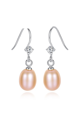 A.Excellence pink Premium Pink Pearl Elegant Earring 30BA2AC329EC8AGS_1