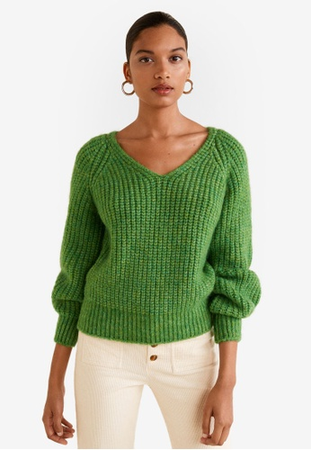 Mango green Chunky-Knit Sweater A2F45AA6111196GS_1