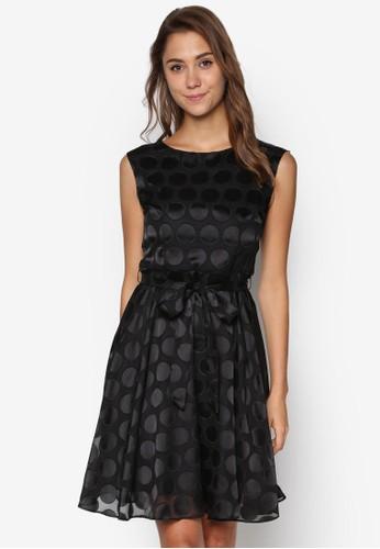點點蕾絲繫帶修身洋裝, 服飾esprit 價位, 洋裝