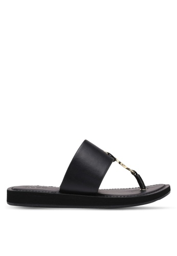 ALDO 黑色 金屬感涼鞋 A7F86SH0640ECFGS_1