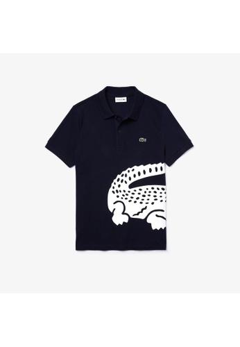 Lacoste blue Lacoste Men's Lacoste Oversized Crocodile Print Polo Shirt 1A287AAD87F75EGS_1