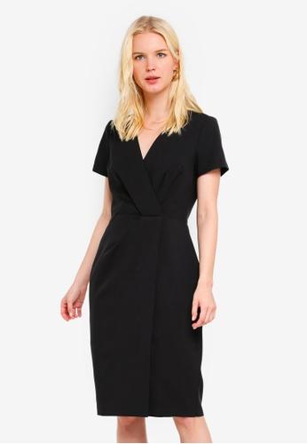 Buy Dorothy Perkins Black V-Neck Wrap Dress Online on ZALORA Singapore 13598245c