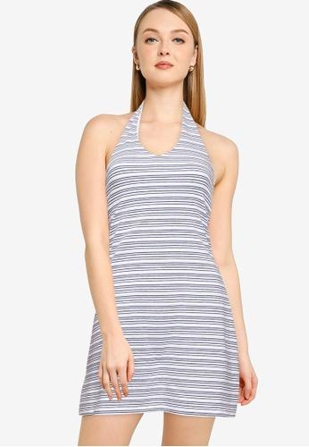 Hollister blue Webex Halter Knit Short Dress 525ADAADFD5DC0GS_1