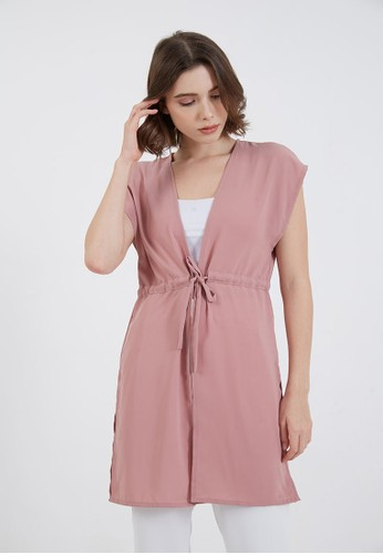 Berrybenka Label pink Jaylene Drawstring Outer Pink B9025AAC98F5E0GS_1