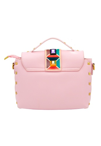 73185452a9 Shop Stylebox YT-16002 Studs Magnetic Colorful Messenger Crossbody Bag with  3 in 1 Macro Fish-eye Wide Universal Clip Glass Lens Online on ZALORA ...