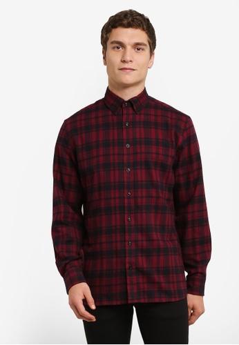 MANGO Man red Regular-Fit Checked Cotton Shirt MA449AA0RV11MY_1