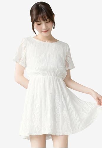 Tokichoi white Striped lace Dress 09572AA84A78D1GS_1