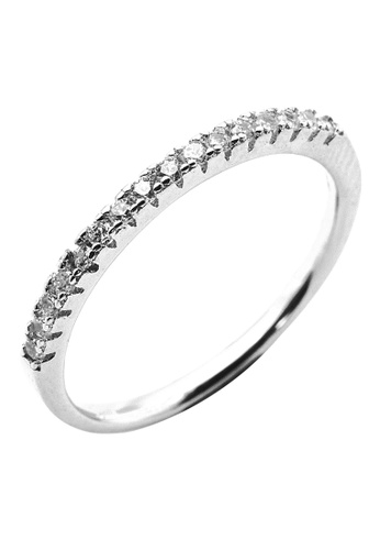 Elfi silver Elfi 925 Genuine Silver Engagement Ring P49 - The Affection EL186AC48NNFMY_1