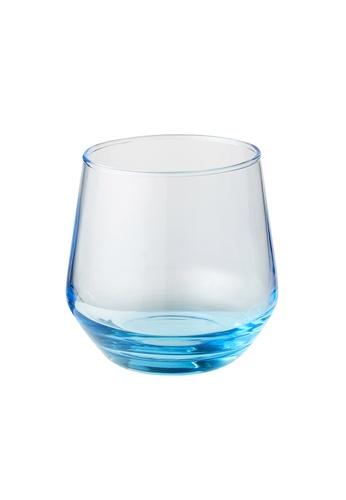JVD JVD Bathroom Glass Tumbler, Blue 1B904HLF34D785GS_1