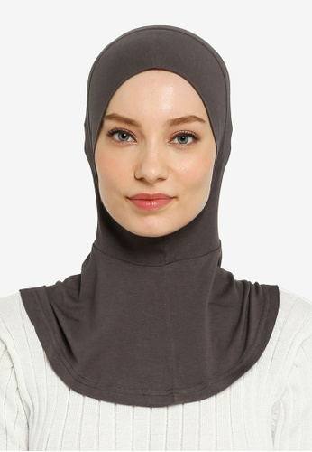 Hijabii grey Yara Full Neck Inner in Dark Grey 11DCCAACC4066AGS_1