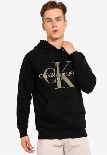 schattig goedkoop verschillende kleuren beste kwaliteit A - Reg Monogram Hoodie - Calvin Klein Jeans