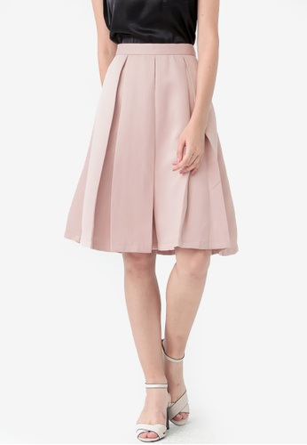 Kodz pink Pleated Mini Skirt EF56AAAB1F856AGS_1