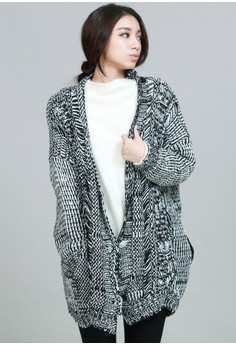 Multi-Weave Oversized Knitted Cardigan