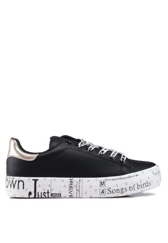 Keddo 黑色 文字印花運動鞋 55752SH4B50C92GS_1