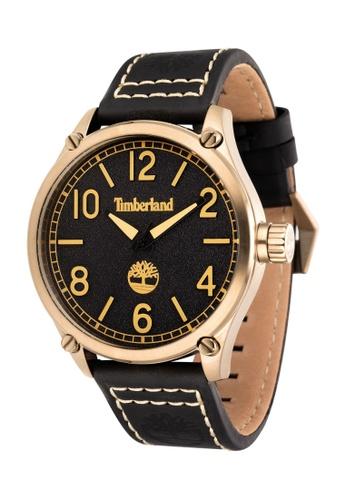 Timberland black Leighton TBL.14852JSK/02 48 MM Black Leather Strap Men Watch F51DDACFEFC8BFGS_1