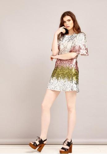 亮片洋裝, 服飾,zalora退貨 短洋裝
