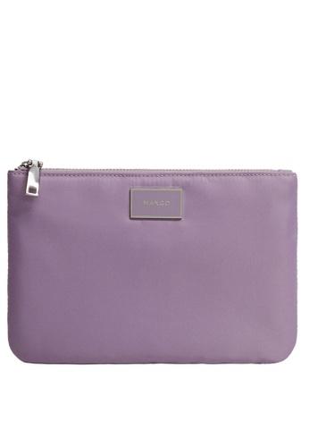 Mango purple Logo Cosmetic Bag 01E03ACFCA4411GS_1
