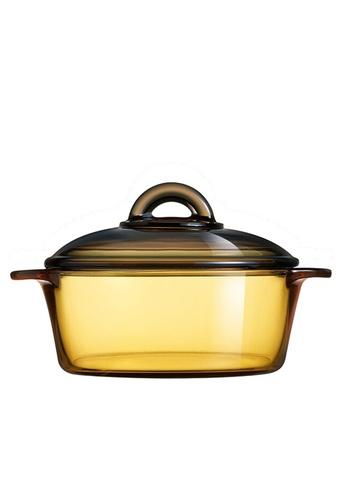Luminarc Luminarc Blooming 1000ML Amber Vitroline Ceramic Cookware / Vitroline Ceramic Casserole / Vitro / Amberline / Vitroflam / Periuk Kaca Bertudung 80826HL2420DDFGS_1