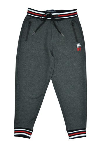 "Moose Gear grey Boys Jogger Pants With ""MG NY"" Embro Details 8D606KA2B45FB8GS_1"