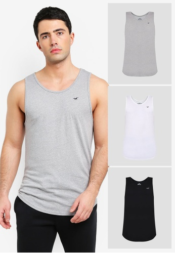 ba6eb8882 Buy Hollister Tank Top Multipack Online on ZALORA Singapore
