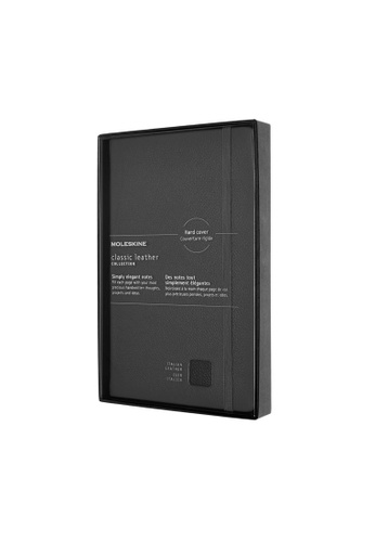 Moleskine black Classic Leather Notebooks Ruled Hard Black Large 806DFHL0E5A31AGS_1