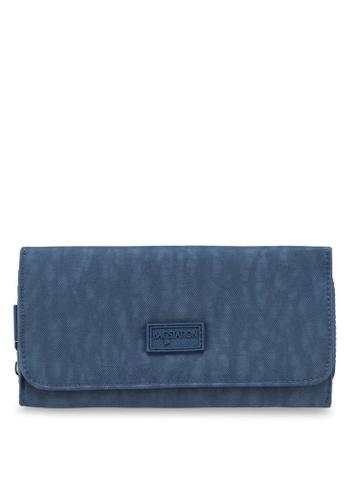 Bagstationz navy Crinkled Nylon Bi-Fold Wallet 72ADEAC7D81017GS_1