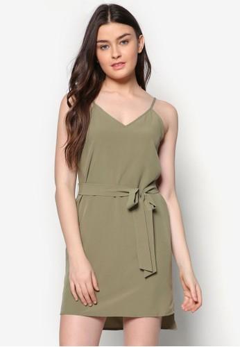 Love 素色細肩帶zalora鞋洋裝, 服飾, 洋裝