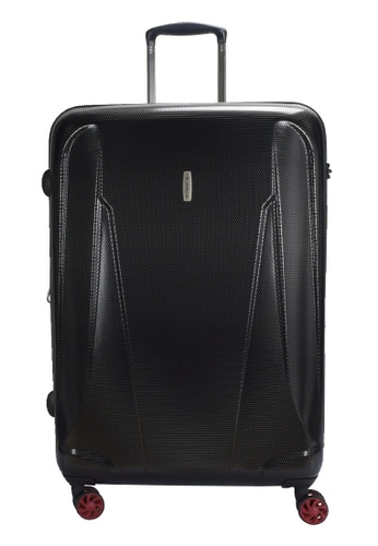 Airways black Airways 24 inch Expandable 4 Wheels Trolley Hard Case - ATH 7909 BLACK 5470CACEFD09F6GS_1