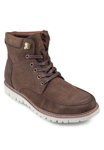 esprit衣服目錄皮革短筒靴, 鞋, 靴子