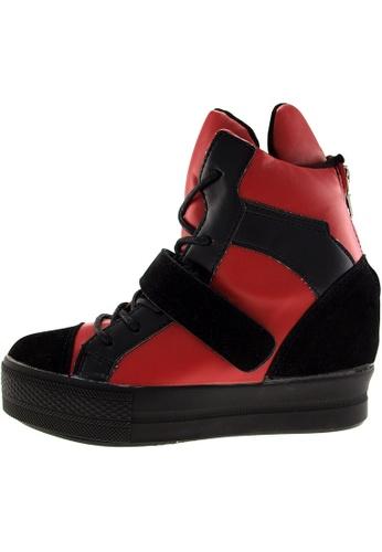 Maxstar Maxstar Women's C2 Velcro Hidden Heel Suede High Top Sneakers US Women Size MA168SH71BZOHK_1