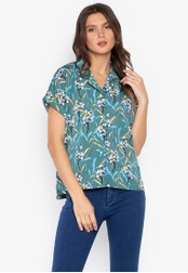 MEMO green Floral Resort Shirt 5B72FAA8944FD5GS_1