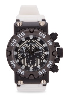 Oversized Case Silicone Watch