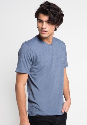 CARVIL blue Tshirt Man Vitman-B5 CA566AA0UGXIID_1