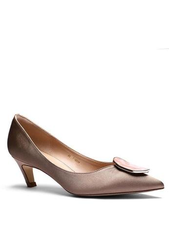 Twenty Eight Shoes 5CM 尖頭綢緞中踭鞋 1886-47 BEA8DSHE0E009FGS_1