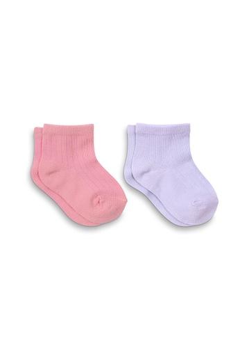 APAIR pink and purple and multi Pastel Socks 0FE45KA1E186ABGS_1