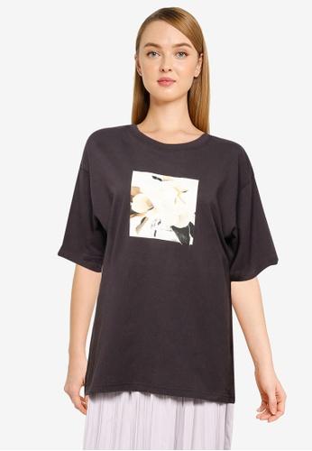 LOWRYS FARM grey Oversized T-Shirt F45A5AAB4D88F9GS_1