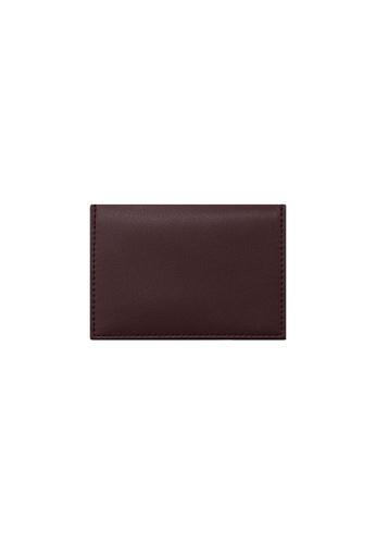 Knocks brown and red Bifold Namecard Holder Burgundy F4C4FACBC7665DGS_1
