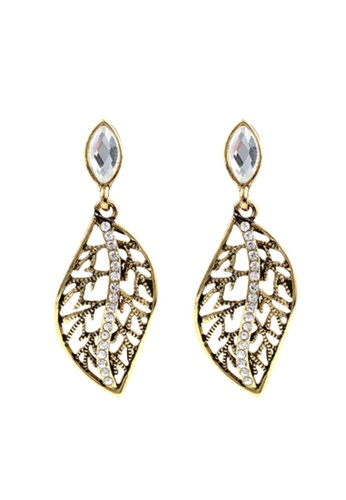 Kings Collection gold Trendy Gold Leaves with Diamond Stud Earrings 5BF87AC5256C97GS_1