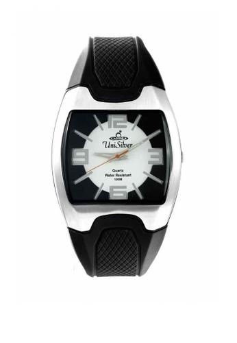 UniSilver TIME black Flexor Men's Analog Rubber Strap Watch 6419BAC20F8F7FGS_1